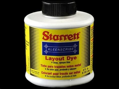 layout liquid starrett kleenscribe layout dye 4oz liquid mpn 1610 4