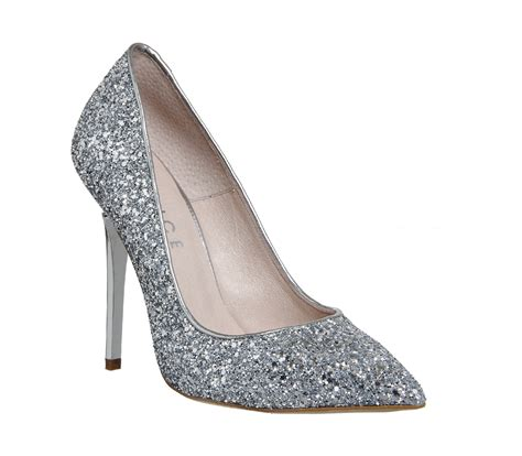 silver sparkle high heels silver glitter heels for fashionarrow