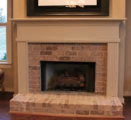 Brick Fireplace by Whitewash Brick Fireplace Mezes Formal Living Spaces
