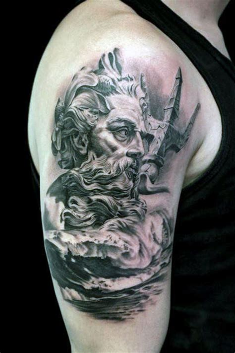 poseidon tattoo 30 poseidon designs for god of the sea