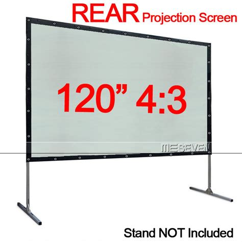 Screen Projector 120 Wall 120 quot 4 3 pvc portable wall mounted back rear projection screen for any projector ebay