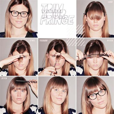 how to style your bangs or fringe to hide it as you grow if you absolutely have to cut your own fringe hair doo