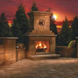 outdoor wood burning fireplace kit
