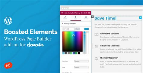 wordpress add layout boosted elements wordpress page builder add on for