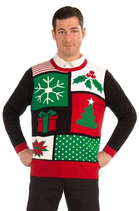 jolly christmas sweater adult costume xl purecostumes com