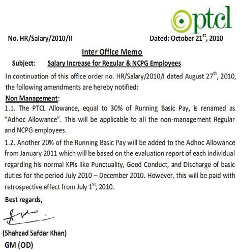 Pay Raise Notification Letter 2015 revised notification pay icrease 20 of non management