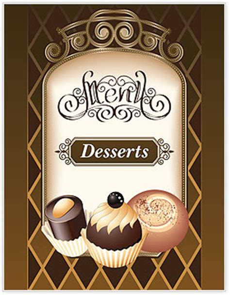 Desserts Menu Template Design Id 0000002024 Smiletemplates Com Free Dessert Menu Template Word