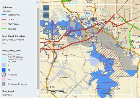 texas flood map sugar land flood zones
