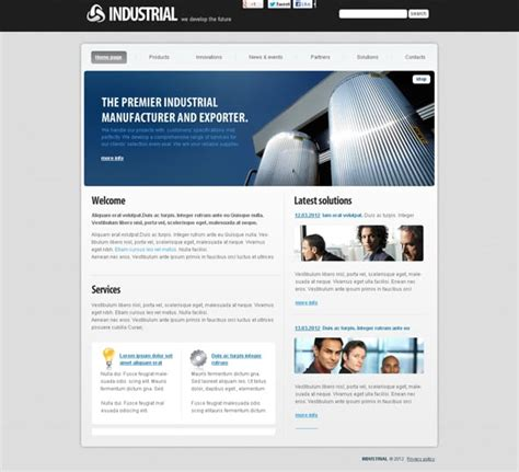industrial template discover our new industrial flash templates