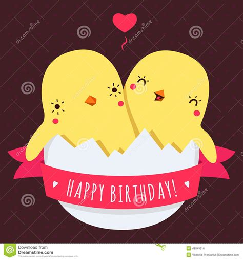 imagenes de cumpleaños para gemelos los pollos lindos del beb 233 de los gemelos en huevo vector