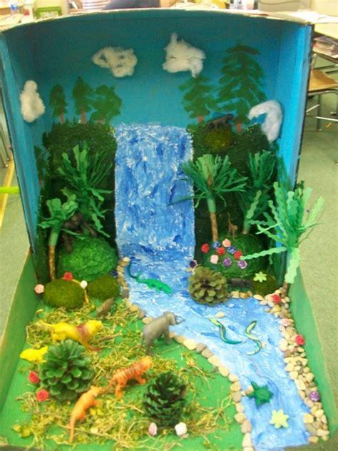 maqueta de paisaje como una catarata escuela maquetas paisajes y escolares