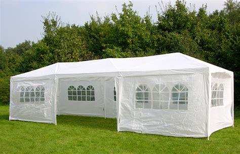 White Outdoor Canopy 3m X 9m White Waterproof Outdoor Garden Gazebo Tent