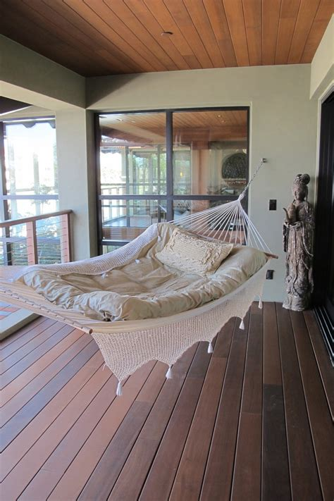 innovative hammock chair stand in porch style with