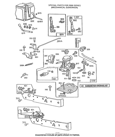 briggs and stratton carburetor diagram briggs and stratton 092902 3264 01 parts diagram for