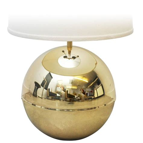 Spheres Table L Karl Springer Brass Sphere Table L For Sale At 1stdibs