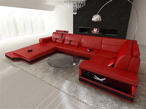 sofa mit hoher sitzhöhe couchgarnitur wohnzimmer led messana design wohnlandschaft
