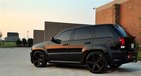 murdered jeep grand she likes it sideways jeep grand srt8 murdered out