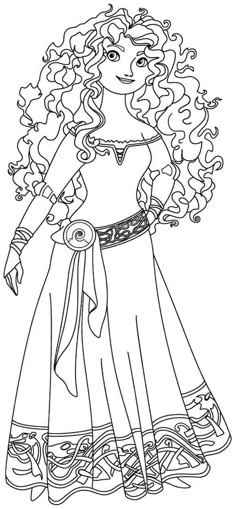 princess merida coloring page 17 best images about disney scrapbooking on pinterest