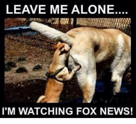 Leave Me Alone Meme - leave me alone i m watching fox news being alone meme