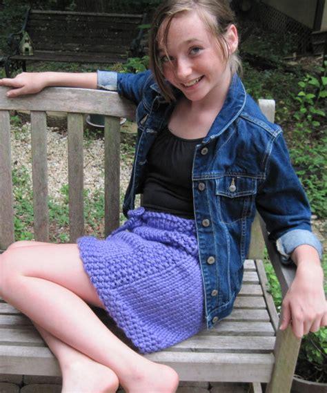 preteen upskirt tween to teen skirt knitting pattern