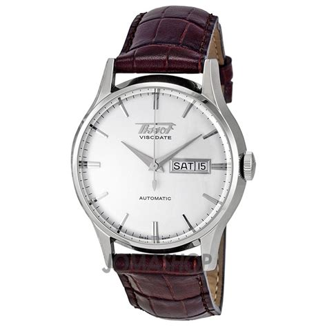 tissot heritage visodate automatic silver s