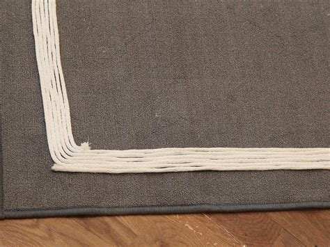 Make An Outdoor Rug by How To Add A Rope Border To A Basic Outdoor Rug Hgtv
