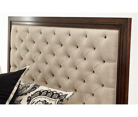 aico cera panel bed w fabric tufted headboard