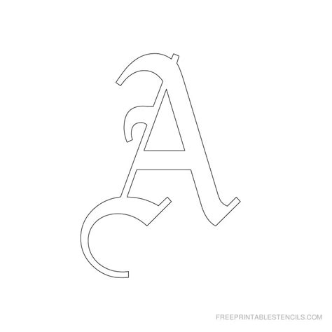 Printable Old English Letter Stencils Free Printable Stencils Letter Template Printable