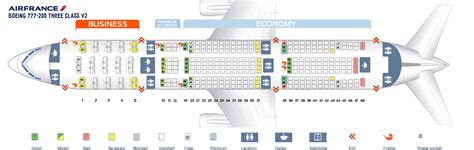 Boeing Locations Map Business Stltoday by Seat Map Boeing 777 200 Air France Best Seats In Plane