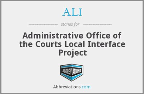 Administrative Office Of Us Courts by Ali Administrative Office Of The Courts Local Interface