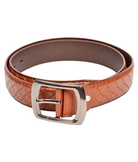 dandy brown non leather belt buy rs snapdeal