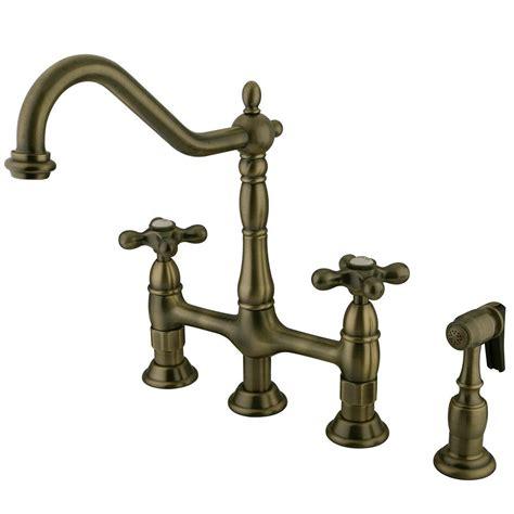 kingston brass victorian porcelain 2 handle bridge kitchen kingston brass victorian lever 2 handle bridge kitchen