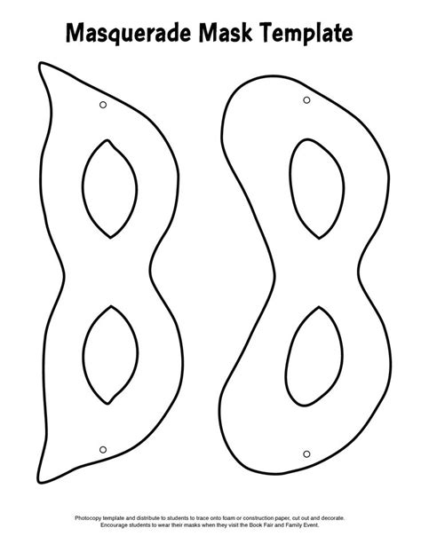 mask template masquerade masks and masquerades on