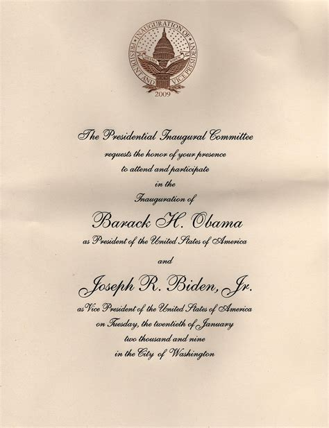 sending a wedding invitation to the white house invitations to the inauguration of barack obama