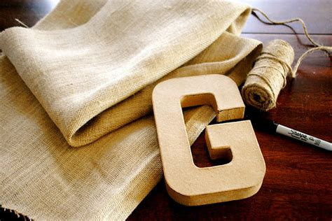 the johnston s diy burlap letter