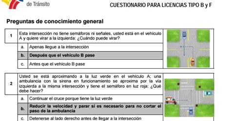 banco de preguntas ant tipo b banco de preguntas para licencia de conducir tipo b