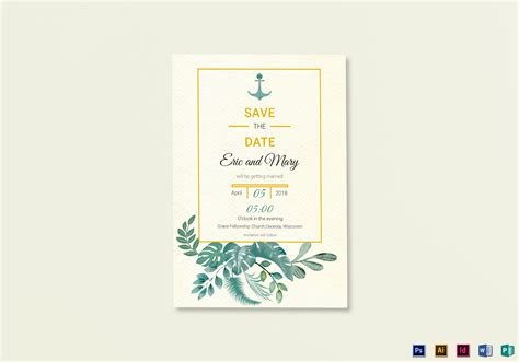 publisher save the date templates nautical save the date card template in psd word