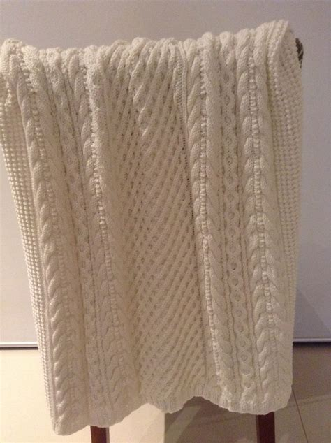 knitting patterns 8 ply wool baby cabled blanket pattern from patons baby
