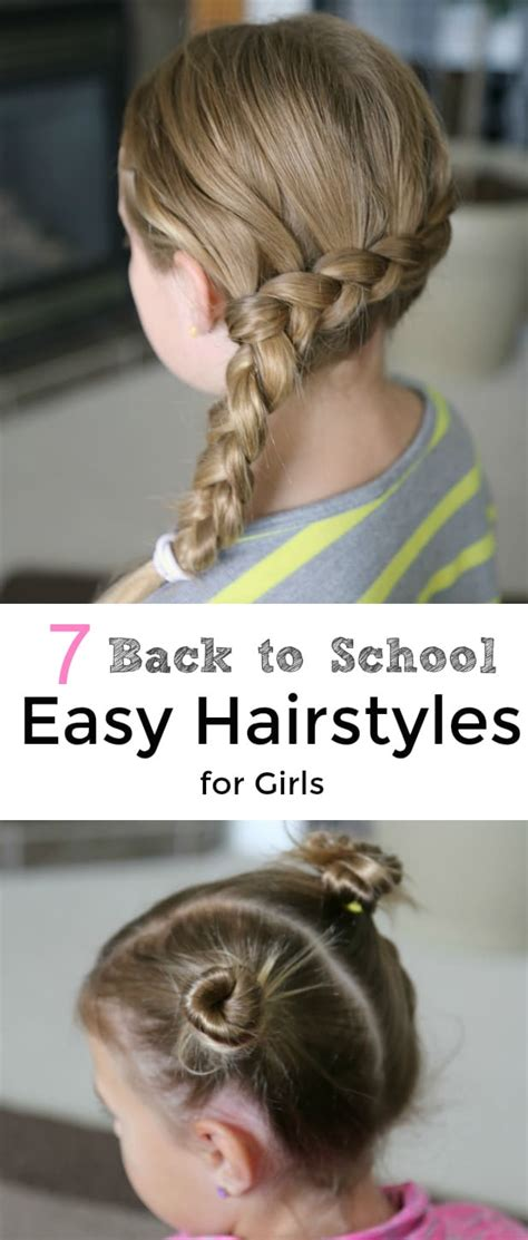 hairstyles for easy back to school 7 back to school easy hairstyles for