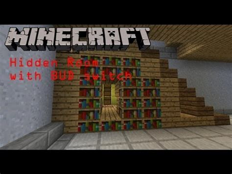 how to build a secret room in minecraft room using bud switch w tutorial minecraft project