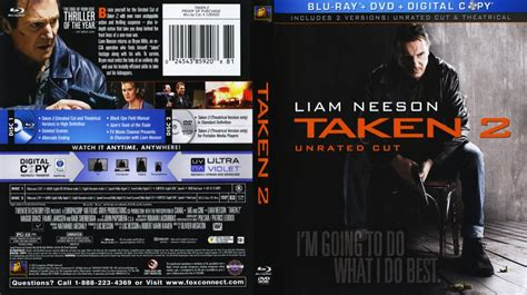 unrated video taken 2 movie blu ray scanned covers taken 2 unrated