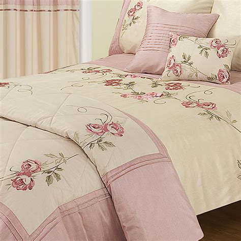 bedding and curtain sets rose blossom super king size duvet set duvet sets