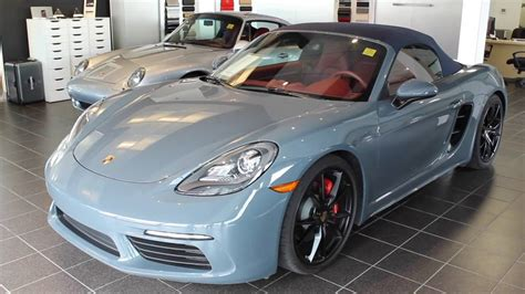 porsche graphite blue interior 2017 porsche boxster s graphite blue on bordeau p4889