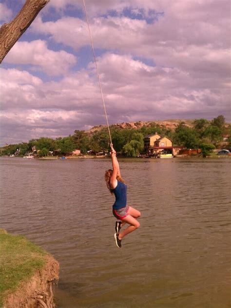 rope swing lake buffalo springs lake lubbock having fun in the texas sun