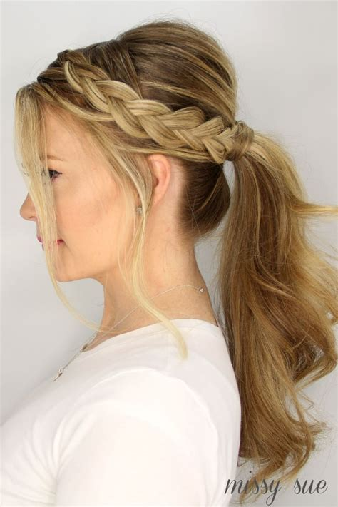 3 Ponytail Hairstyles For by 1000 Ideas About Braid Ponytail On Braids