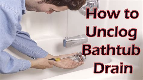 how to unclog a bathtub drain with standing water clog bathtub home remedies home design