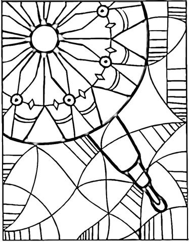 View In Kaleidoscope Coloring Page  Free Printable Pages sketch template