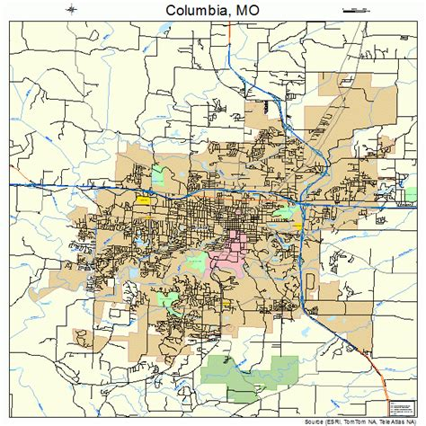 Columbia Mo columbia missouri map 2915670