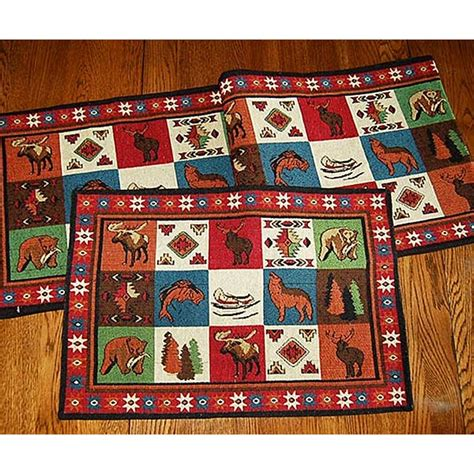 Cabin Placemats by Lodge Table Runner Cabin Place