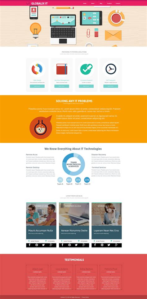 Information Technology Website Template Information Web Template